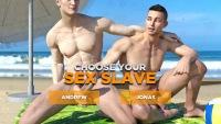 Nude boys show cocks at the beach